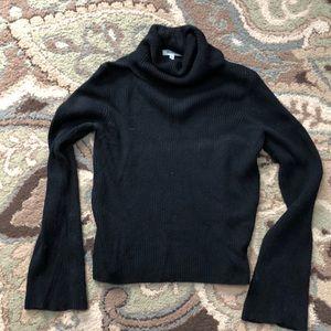 Madewell Sz S Turtleneck Bell Sleeve Knit Sweater